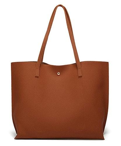 Women's Soft Faux Leather Tote Shoulder Bag
