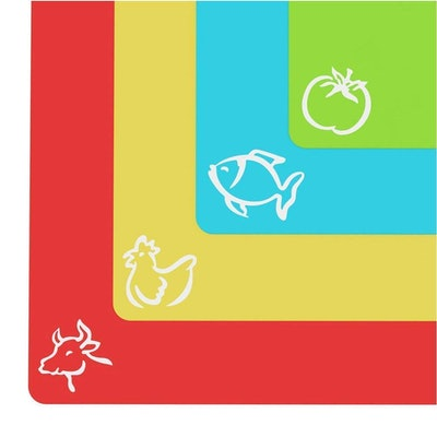 Foodie Aid Set of 4 Flexible Cutting Board Mats