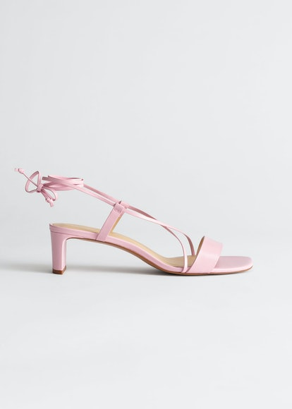 Criss Cross Lace Up Heeled Sandals
