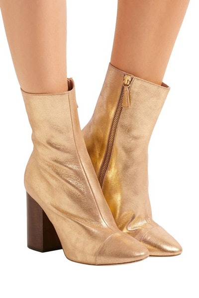Brother Vellies Bianca metallic textured-leather ankle boots