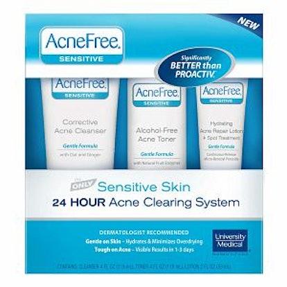 3 Step Acne Treatment Kit for Sensitive Skin with Salicylic Acid