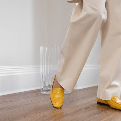Cruise Loafer in Amber Croc