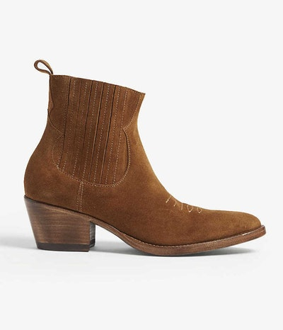 Farwest Suede Cowboy Boots