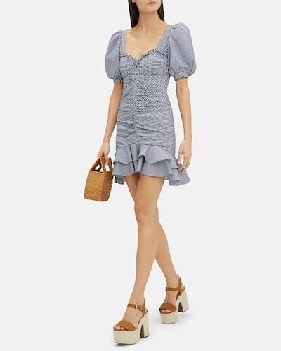 Oxford Gingham Mini Dress