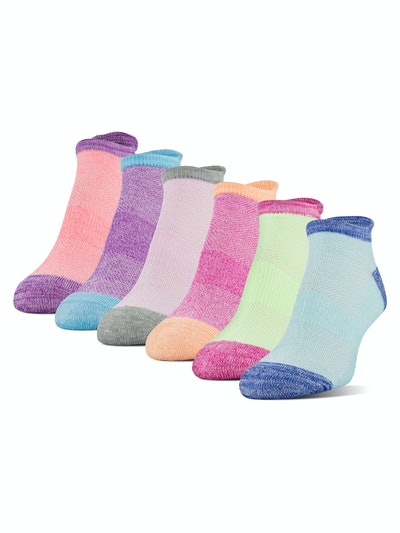 Athletic Works Women's Midcushion Zone Cushion No Show Socks (6-Pack)