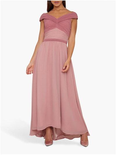 Chi Chi London Steffny Colour Block Dress, Mink