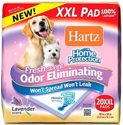 Hartz Home Protection Lavender Scent Odor Eliminating Gel Dog Pads (20-Count)