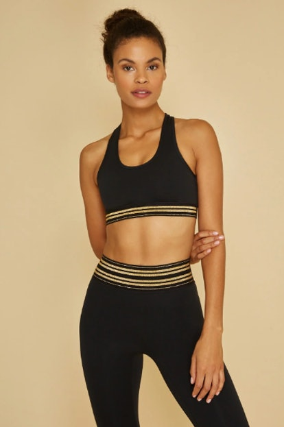 All Access Front Row Bra-Gold Stripe