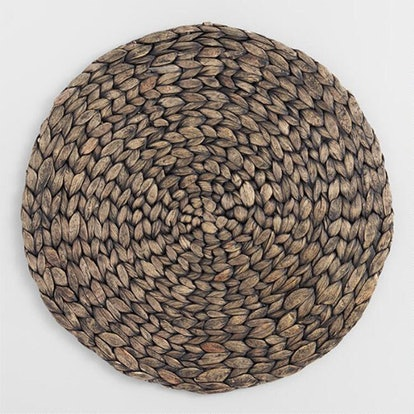 Blackwash Natural Fiber Round Placemat (Set Of 4)