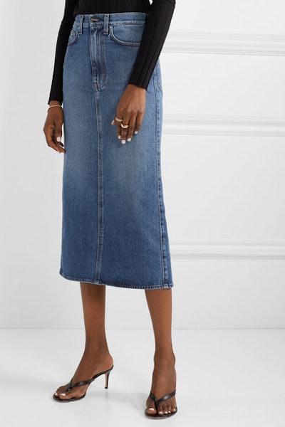 Bitti Denim Midi Skirt