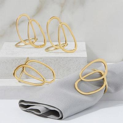 Jewelry Napkin Rings (Set Of 4)