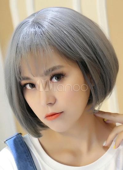 Gray Bob Short Wig
