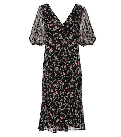 Ganni Floral Crêpe Dress