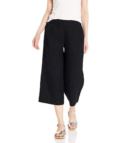 Daily Ritual Women's Linen Wide-Leg Crop