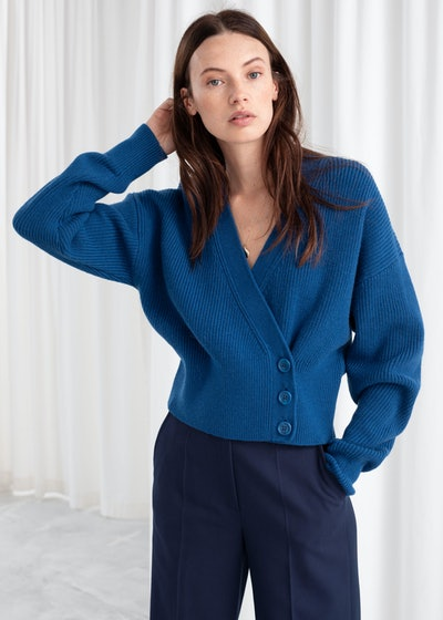 Wool Blend Wrap Cardigan