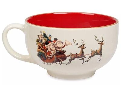 Santa Mickey and Minnie Mouse Holiday Mug