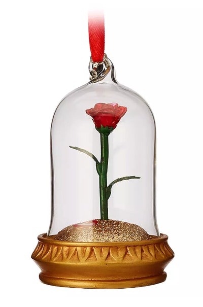 Enchanted Rose Light-Up Sketchbook Ornament – Beauty and the Beast