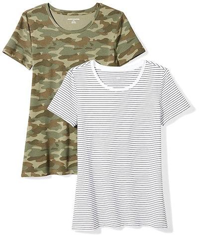 Amazon Essentials Crewneck T-Shirt (2-Pack)