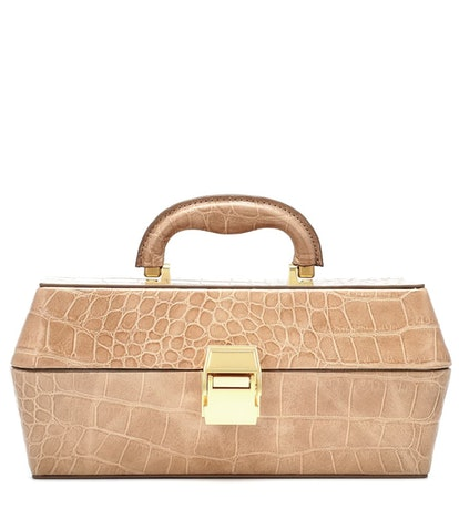 STAUD Lincoln Embossed Leather Tote
