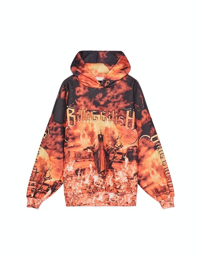 Billie Eilish x Bershka Flame Print Hoodie