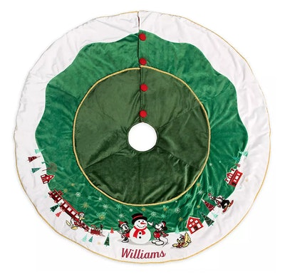 Mickey Mouse and Friends Holiday Tree Skirt – Personalized