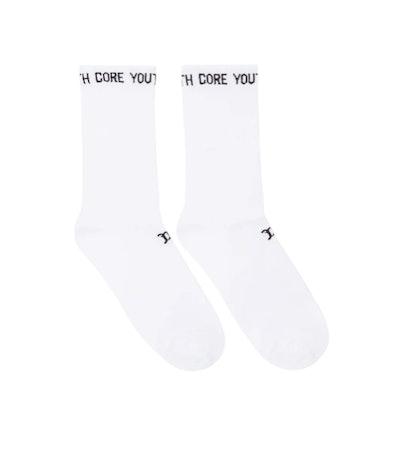 White 'Youth Core' Socks