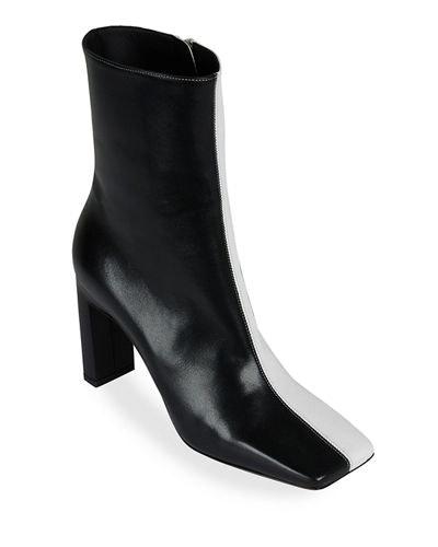 Isa Side Zip Leather Booties