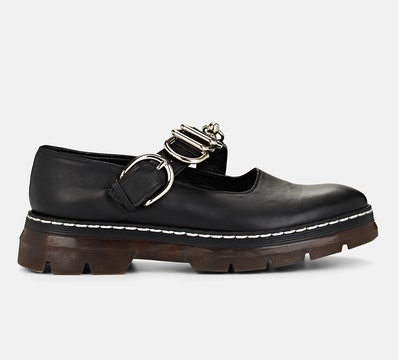 Leather Mary Jane Loafers