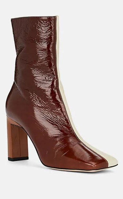 Isa Patent Leather Ankle Boots