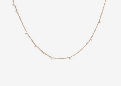 Parsley Gold 925 Silver Seed Pearl Necklace