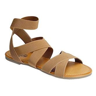 Trary Open Toe Elastic Sandals