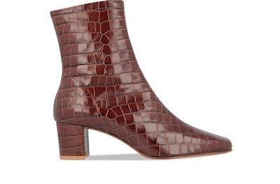 Sofia Nutella Croco Embossed Leather