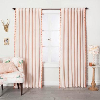 Velvet Curtain Panel With Tassels