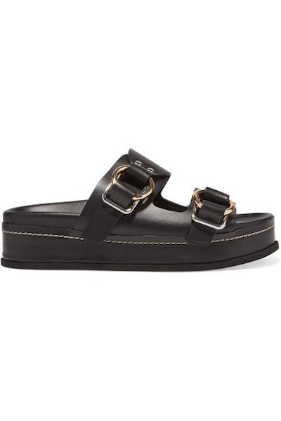 Freida Leather Platform Sandals