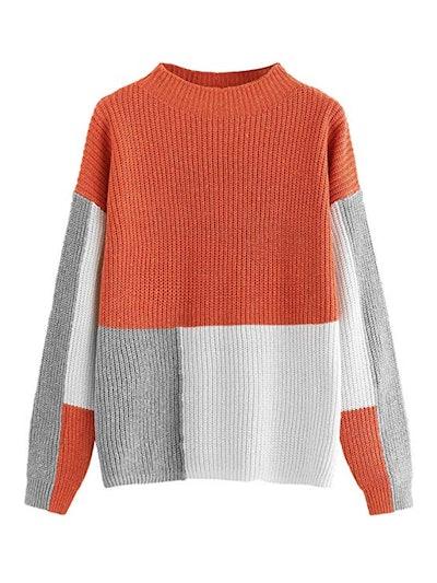 Milumia Pullover Color Block Sweater
