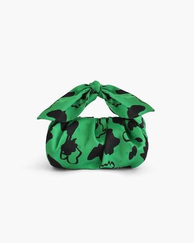 Nane Green Print Satin Bag