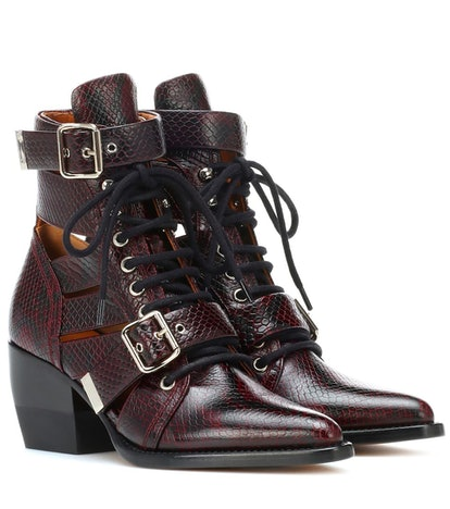 Chloé Rylee Embossed Leather Boots