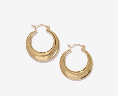 Major Gold Geometric Hoop Earrings