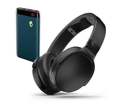 Skullcandy Venue Wireless Over Ear Headphones & Stash Power Bank Bundle