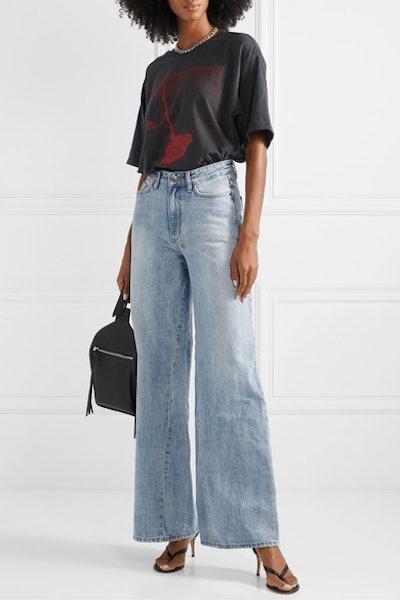 Kicker High-Rise Wide-Leg Jeans