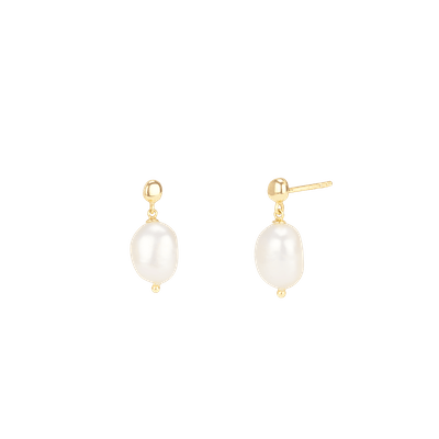 Organic Pearl Drop Earrings