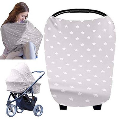 KeaBabies Baby Carseat Canopy Nursing Cover All-In-1