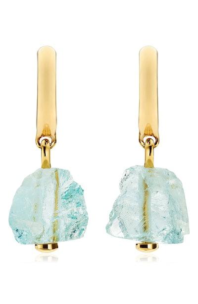 Gemstone Huggie Earrings