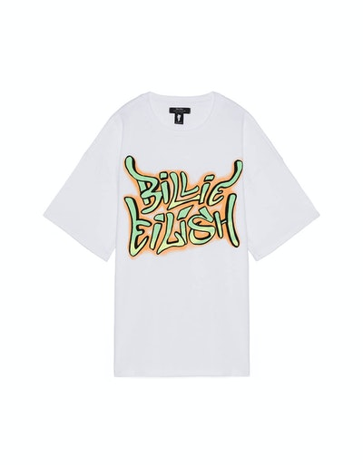 Billie Eilish x Bershka Graffiti Print T-Shirt