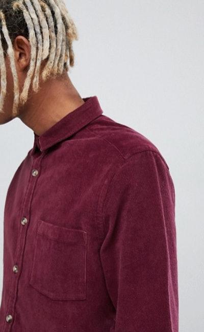 Slim Fit Stretch Cord Shirt