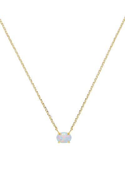 Keepsake Kyocera Opal & 18kt Gold Plated Necklace