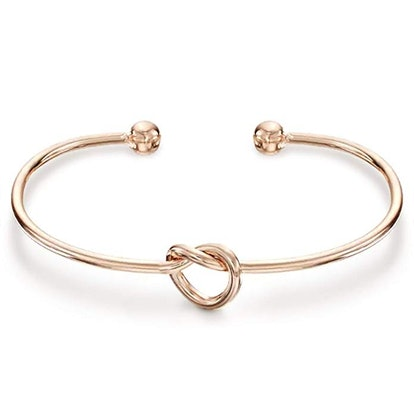 PAVOI 14K Gold Plated Forever Love Knot Infinity Bracelet