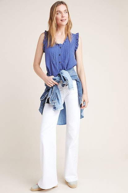 7 For All Mankind Georgia High-Rise Wide-Leg Jeans