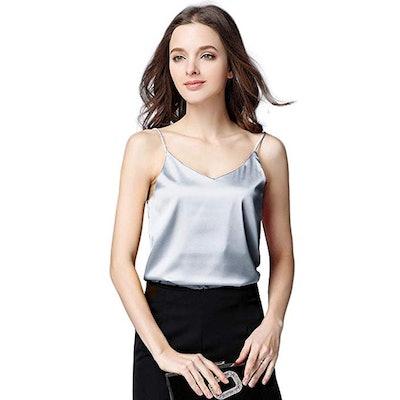 Runbery Silk Camisole