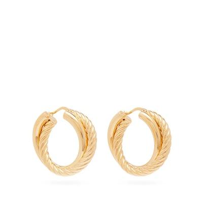 Half-Twist Double-Hoop Earrings